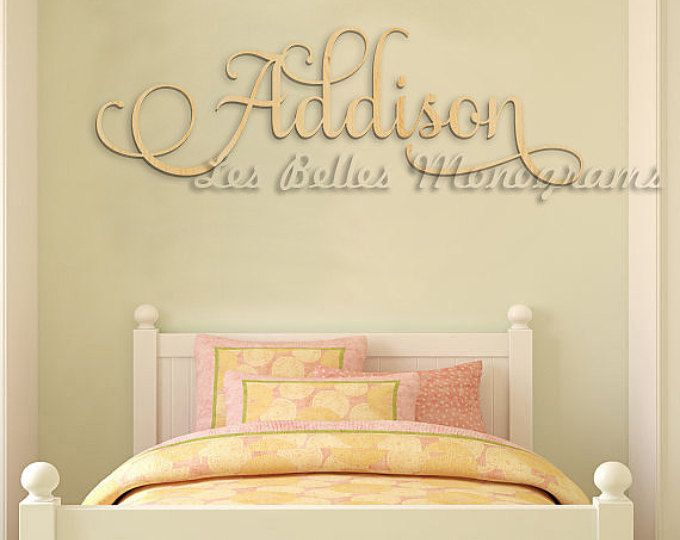 Wooden Name Sign Wall Hanging Letters for Nursery or Bedroom ...