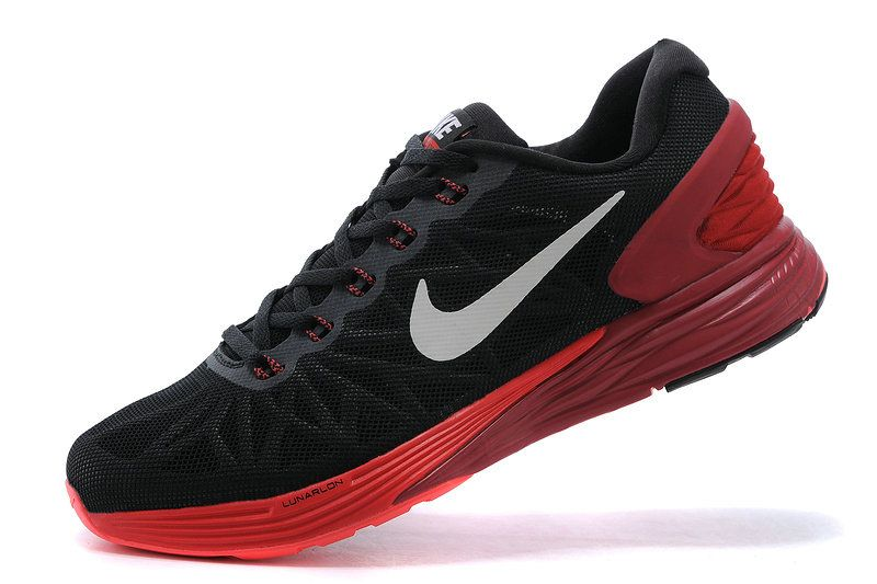 4f1a5a900b0 Authentic New Arrival 2018-2019 Men Boy Nike LunarGlide 6 Anthracite Silver  University Red