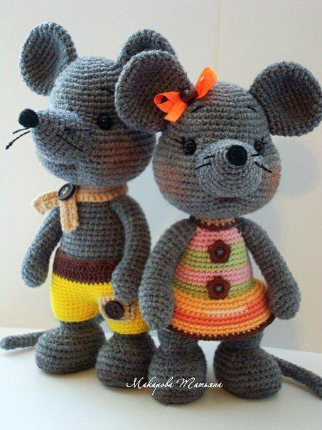 Pin von Moppel auf Mäuse | Pinterest | Mäuse, Häkeln und Häkeltiere