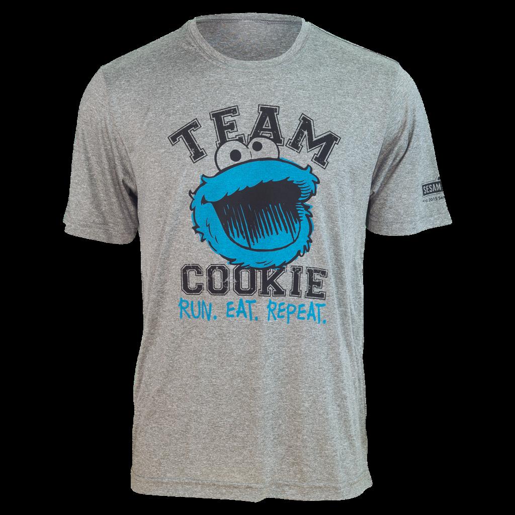 "TEAM COOKIE MONSTER ""Run. Eat. Repeat."" Running Shirt (unisex)"
