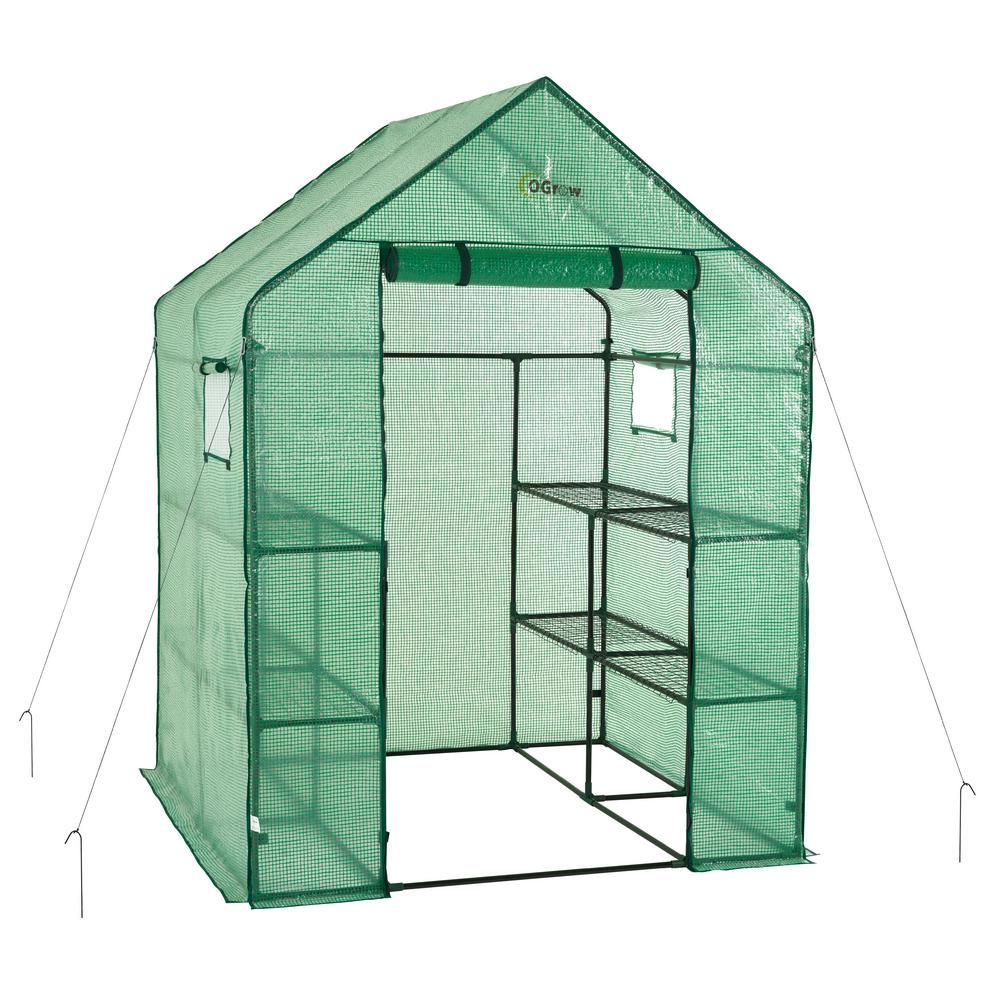 56 in. W x 56 in. D Deluxe Walk-In 2 Tier 8 Shelf Portable Lawn and Small Shelf Greenhouse Designs on small sauna designs, small hotel designs, small floral designs, small flowers designs, small bell tower designs, small boathouse designs, small green roof designs, small spring designs, small science designs, small greenhouses for backyards, small industrial building designs, small carport designs, small pre-built homes, small gazebo designs, glass greenhouses designs, small glass designs, small boat slip designs, small garden designs, small business designs, small wood designs,