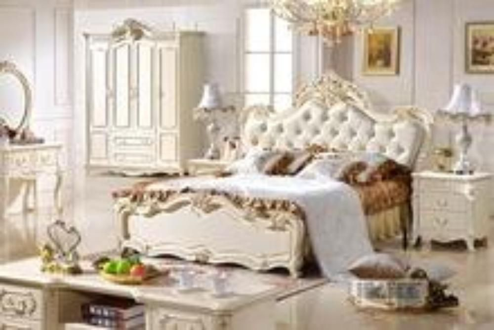 0409 Italian classic luxury bedroom furniture #greenluxurybedrooms