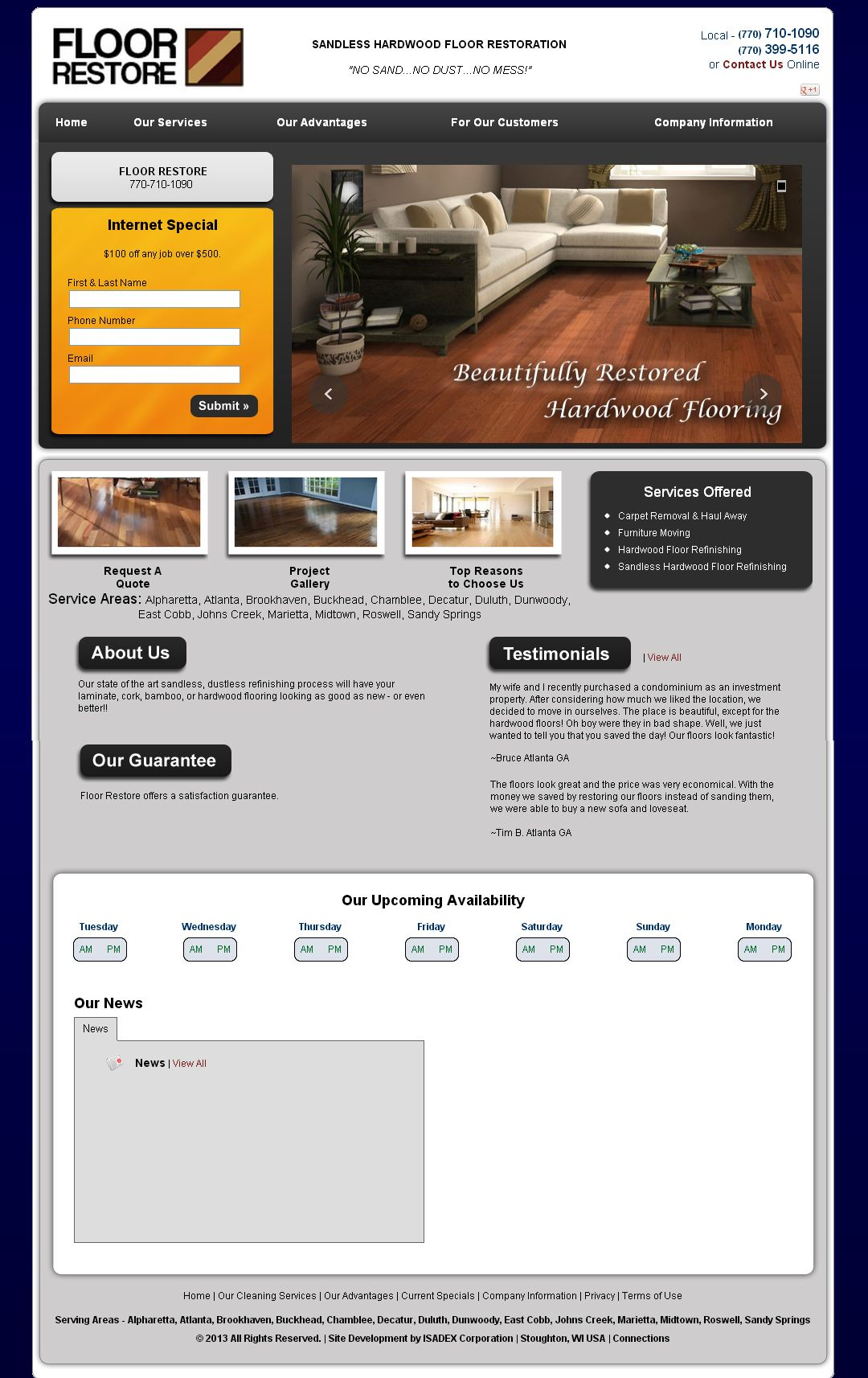 Floor Restore Carpet Cleaning Website Template
