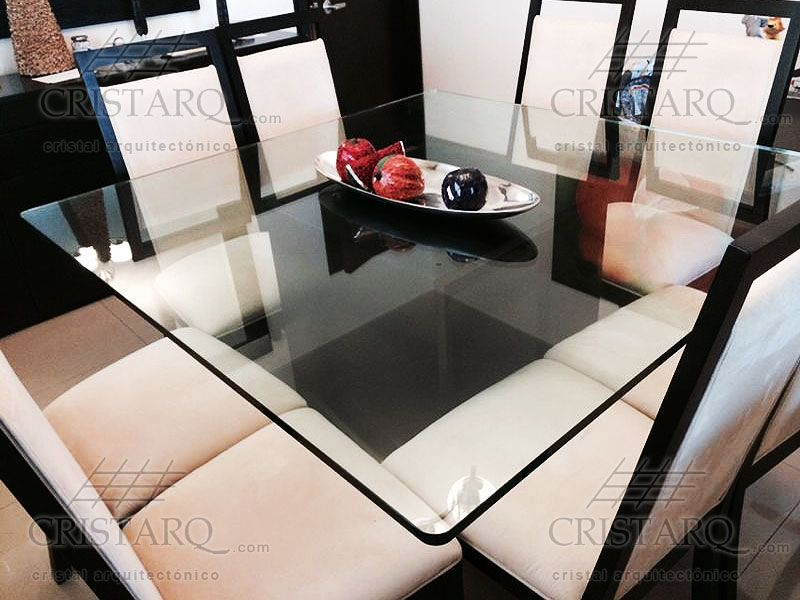 Cubierta de cristal templado para comedor. | Cubiertas para Mesa de ...