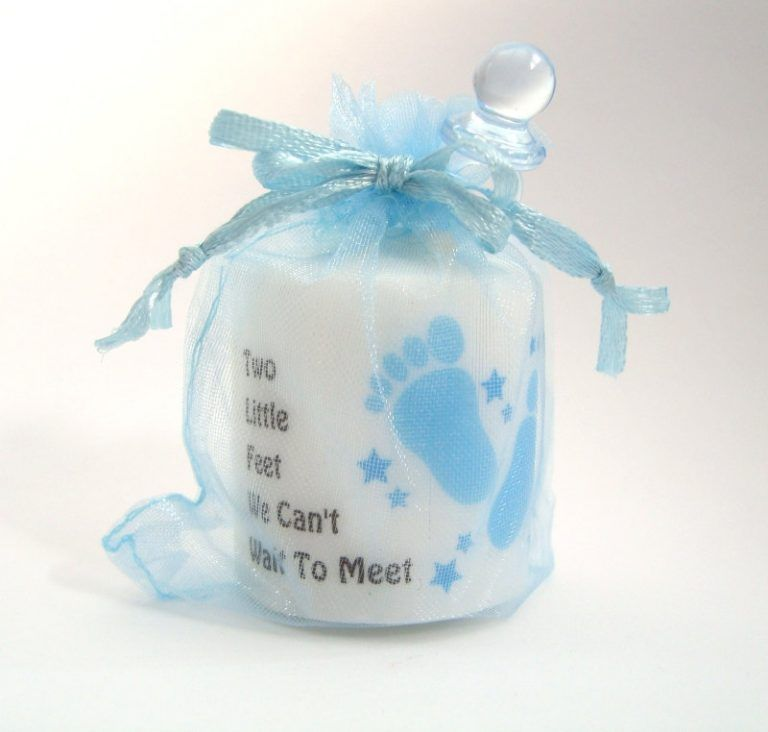 12 Count Precious Cargo Blue Candle Tin Baby Shower Party Favors