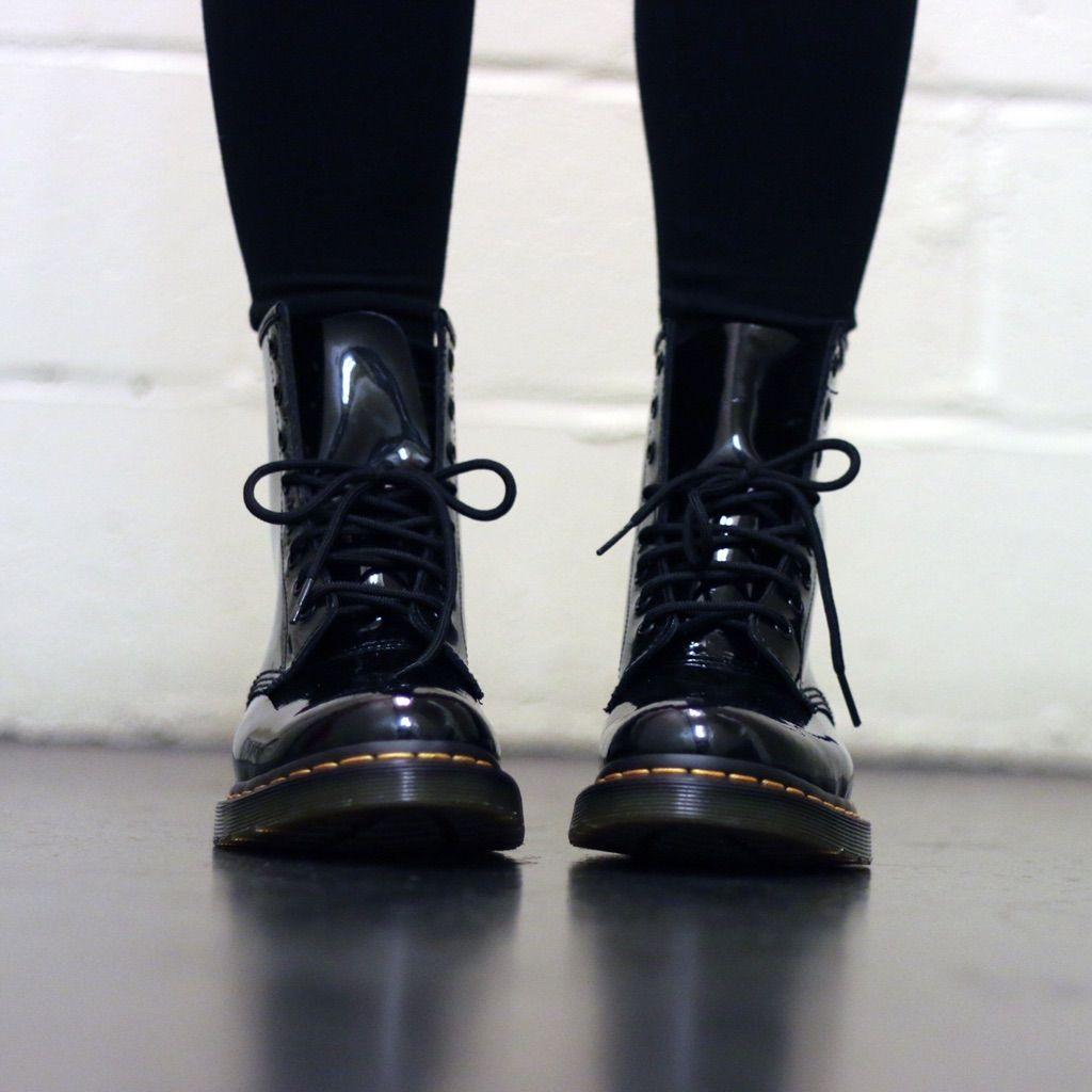 Dr. Martens women's 1460 patent lamper boots