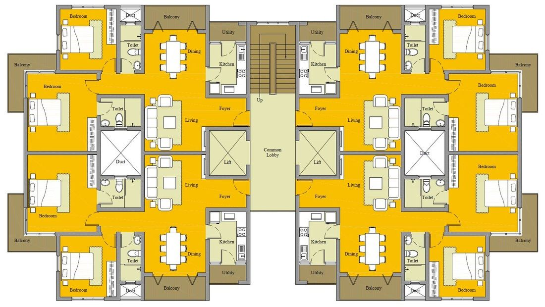 Apartment Building 3010 Homeplansindia Small Apartment Building Plans Small Apartment Building Residential Architecture Plan