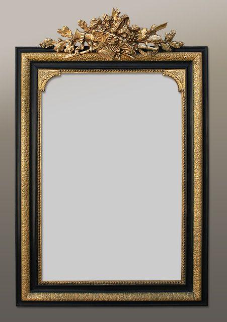 Miroir-ancien-napoleon-3-avec-fronton ЗЕРКАЛА РАМКИ Pinterest