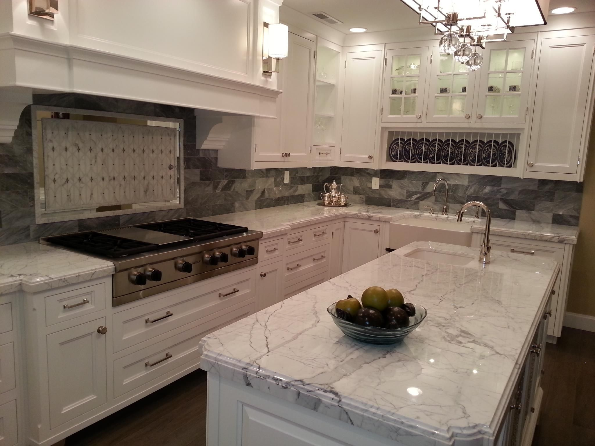 Glacier White Granite Kitchen Counters Bathrooms