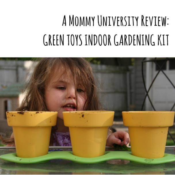 INTRODUCE YOUR KIDS TO GARDENING WITH GREEN TOYS INDOOR GARDENING KIT (review) by Mommy University at www.mommyuniversitynj.com #gardeningwithkids