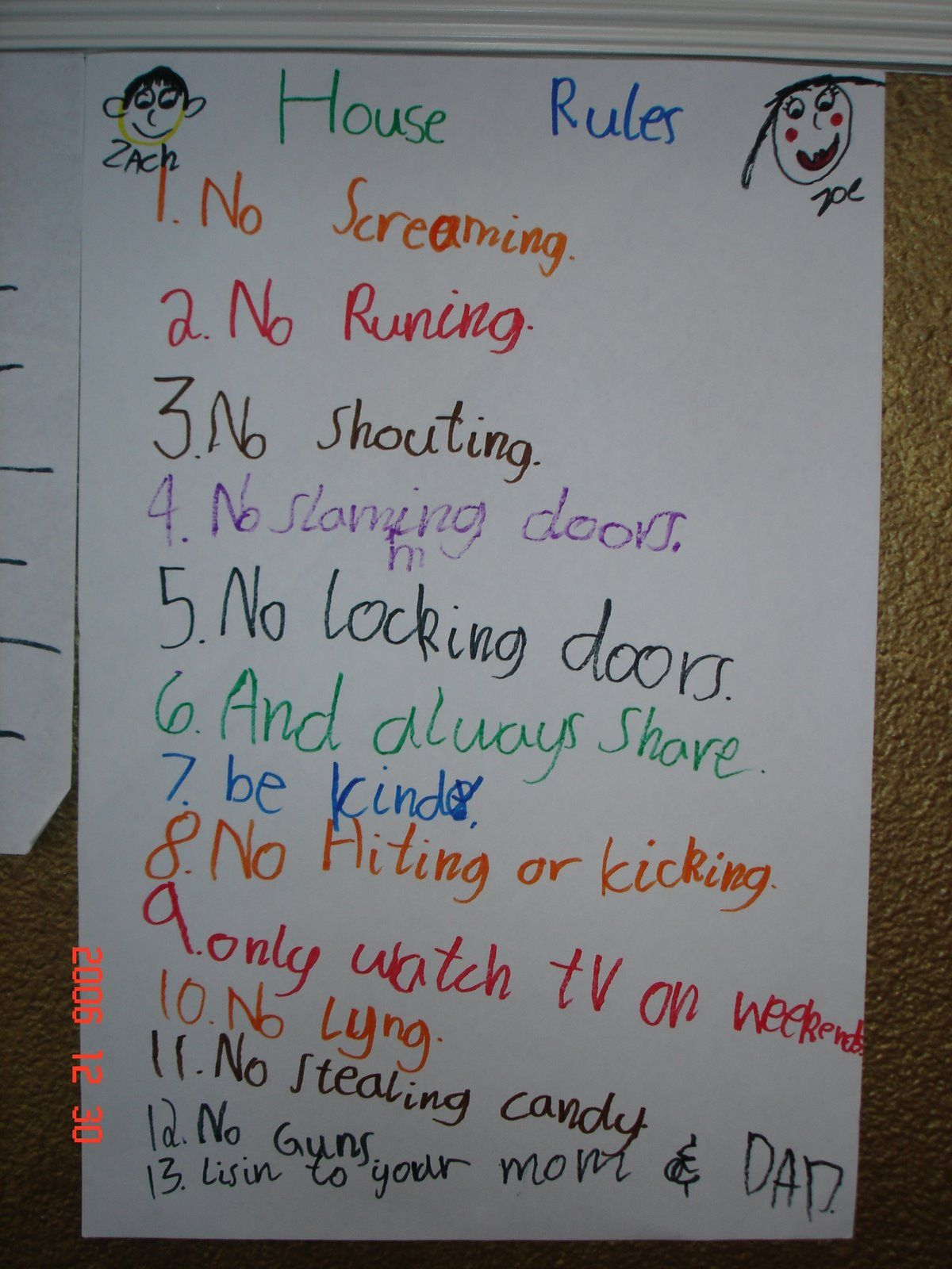 Kids House Rules For Supernanny Rewards Family