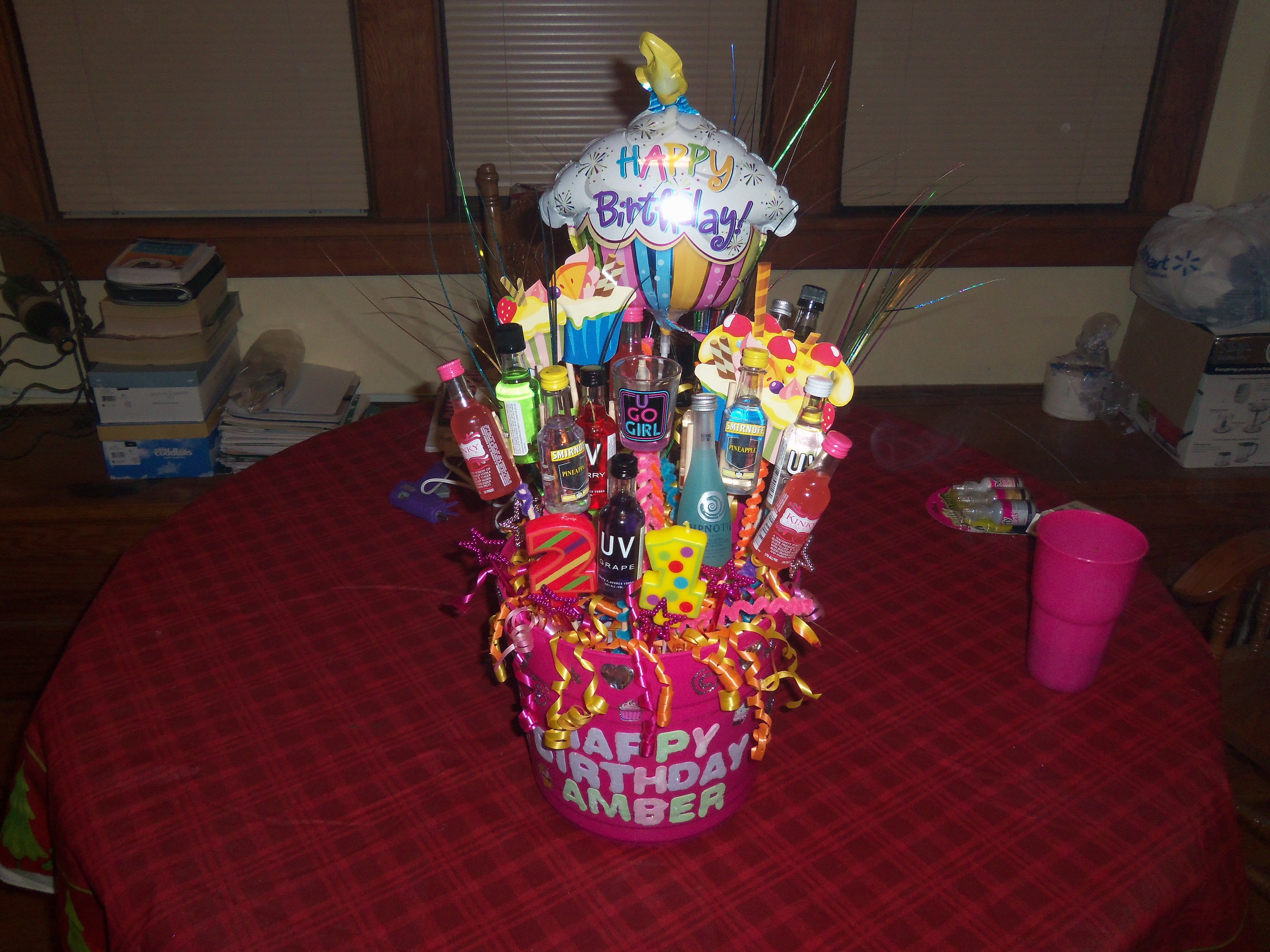21st Birthday Shot Basket Good Ideas Pinterest 21st birthday