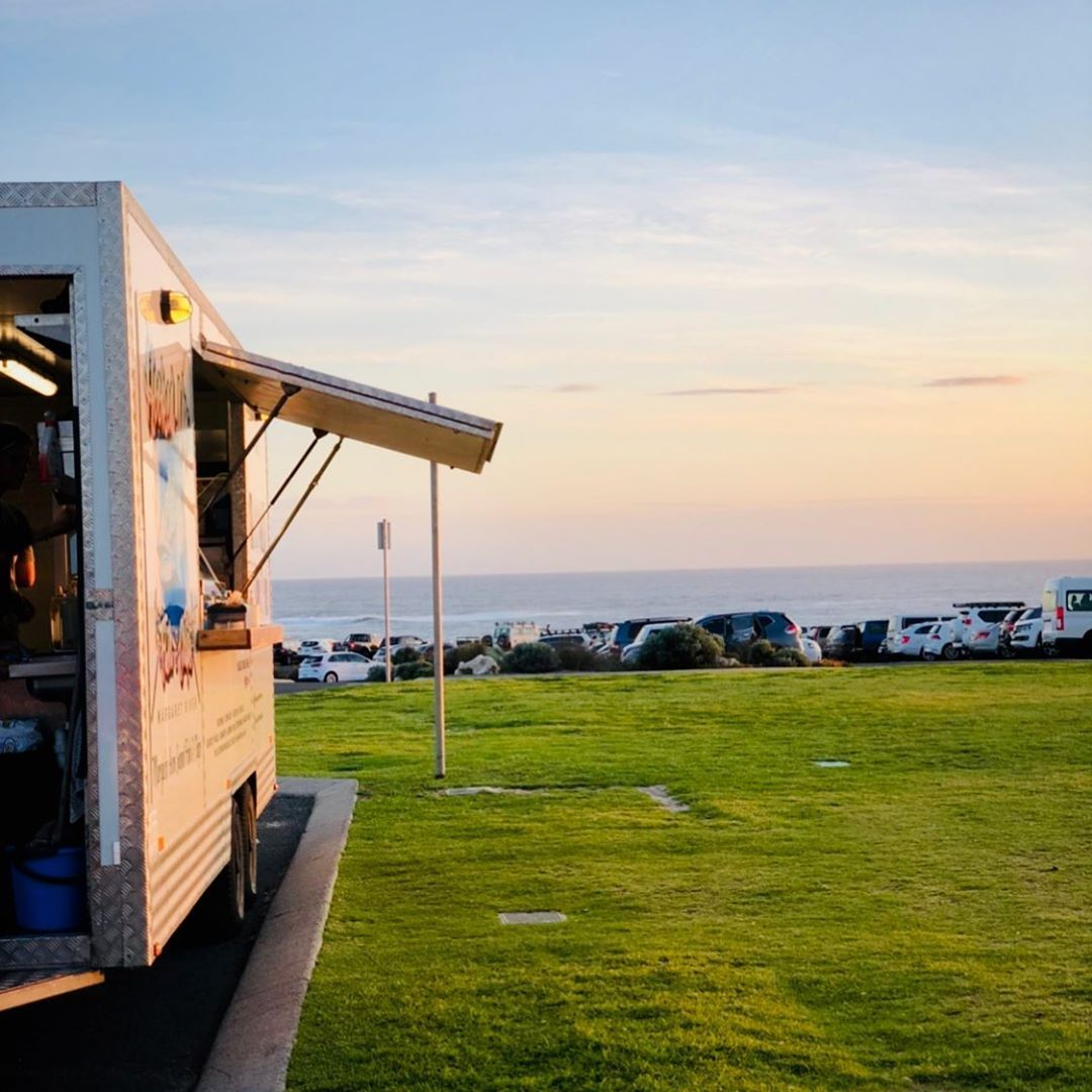 When the @hookedupfishandchips van appears at Surfers Point in Margaret River you know summer is on its way. ... #travelwardrobesummer