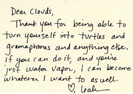 dear clouds