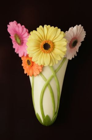 Gerber Daisy Wall Vases   Walls, Cement art and Flower clipart