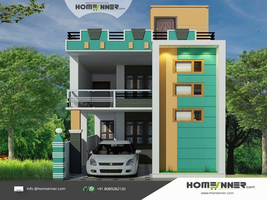 Tamil nadu style 3D house elevation Design House