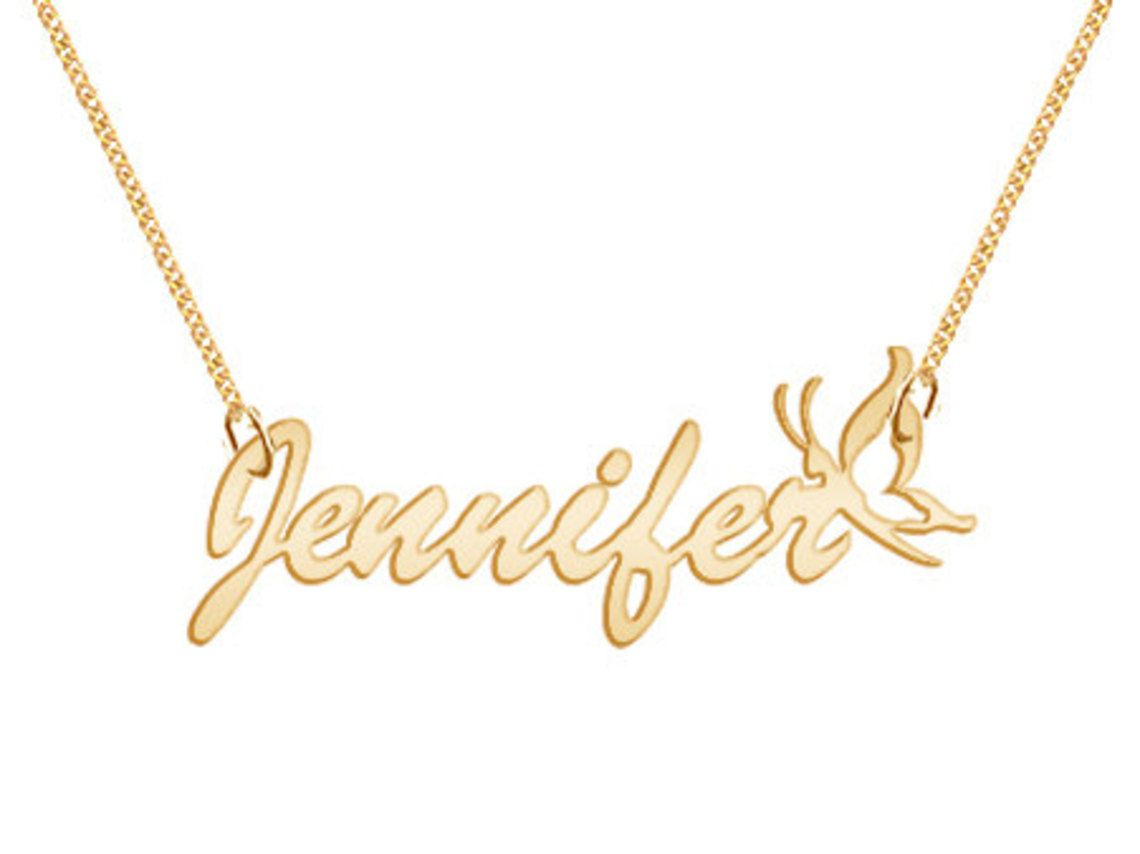 Personalized Name Necklace Personalized Hand Made Custom  Gold Tone Jewelry, $44.99