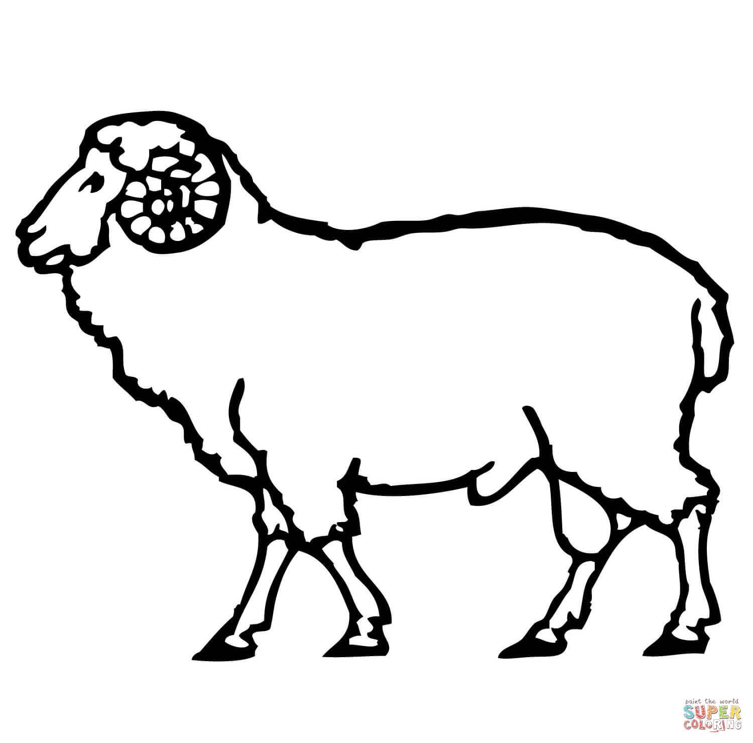 Domestic sheep coloring pages | Free Coloring Pages | Marie ...