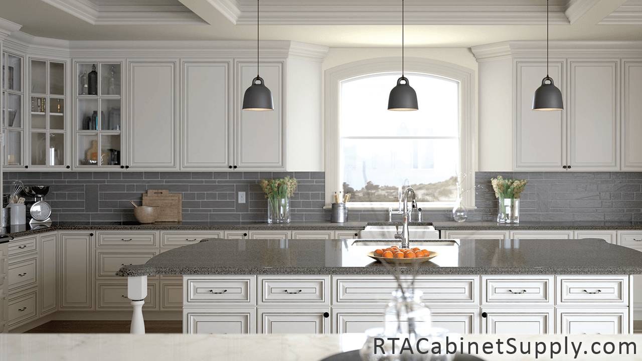 Pearl glaze rta kitchen cabinet sets kitchen remodel in