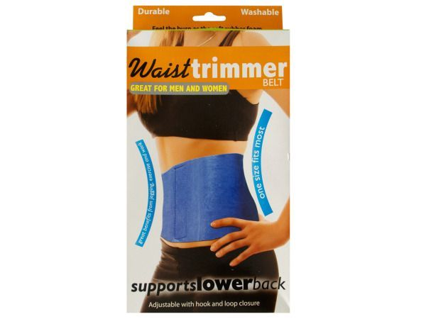 Adjustable Waist Trimmer Belt, 48 - Ideal for men or women, this Adjustable Waist Trimmer Belt with hook and loop closure is comfortable to wear during exercise to help increase weight loss. The soft rubber foam material generates and retains therapeutic heat for lower back muscles, promotes water loss and tightens and strengthens stomach muscles. Suitable for any aerobic exercise or weight reduction program. Helps tone and support abdomen, stomach and back muscles. One size fits most. Comes…