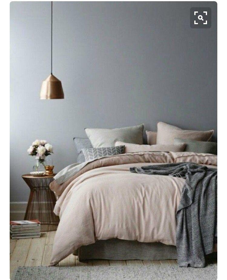 romantische slaapkamer grijs oudroze