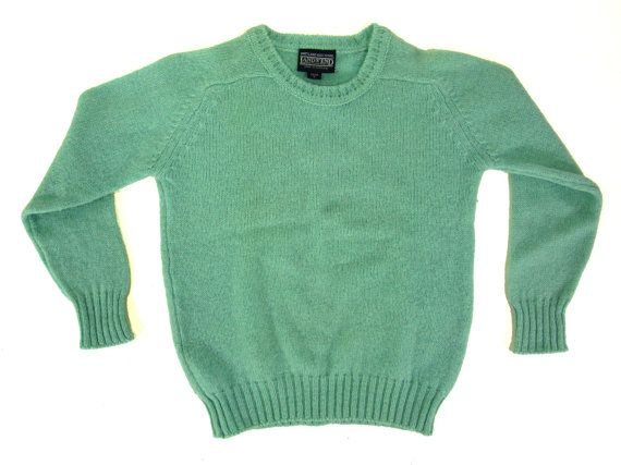 SALE  Vintage Land's End Blue Wool Sweater  by IvyLeagueVintage, $32.25