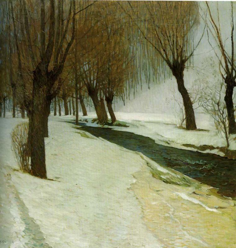 Winter In Preibach - Carl Moll