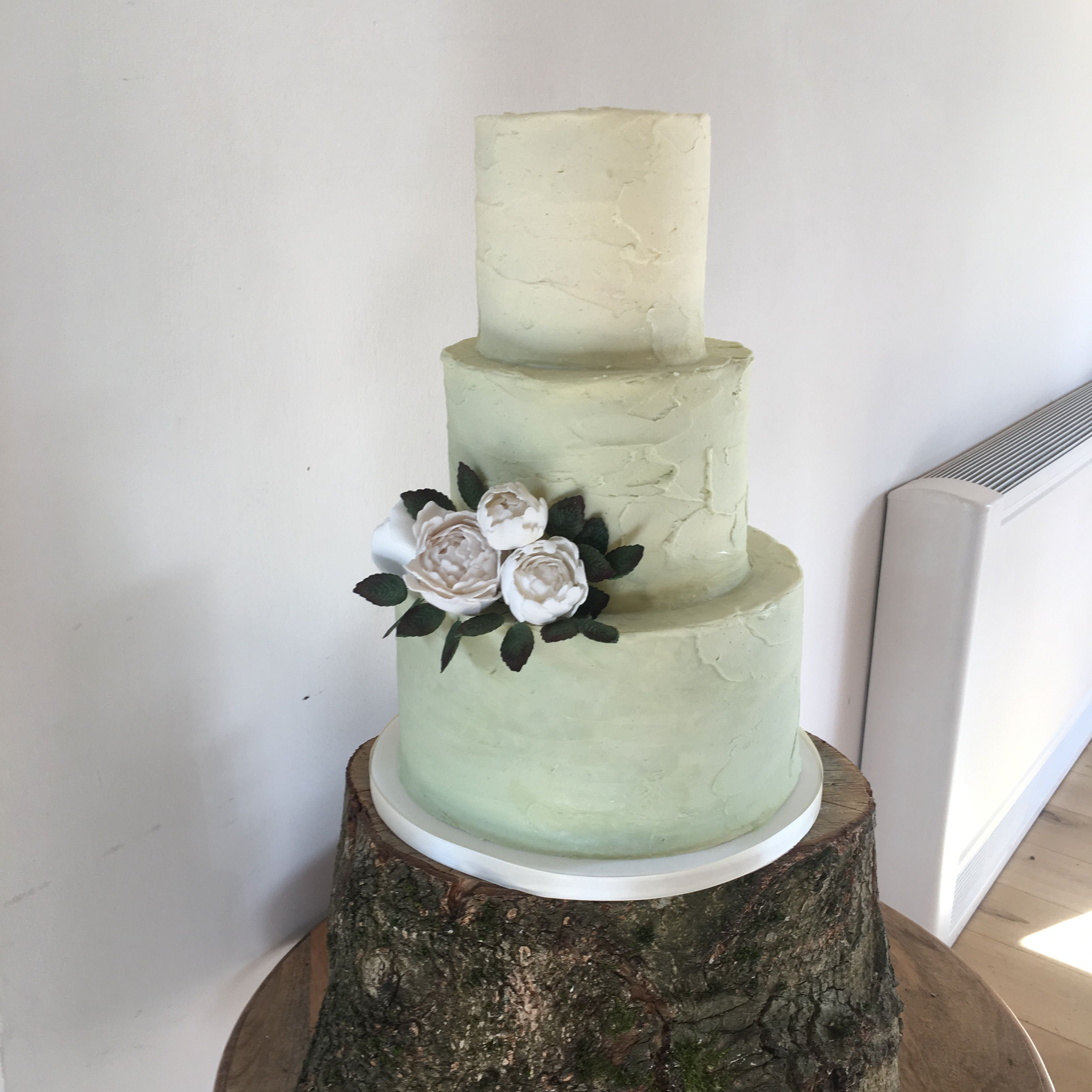 Gorgeous Sage Green Ombre Buttercream Cake Cake