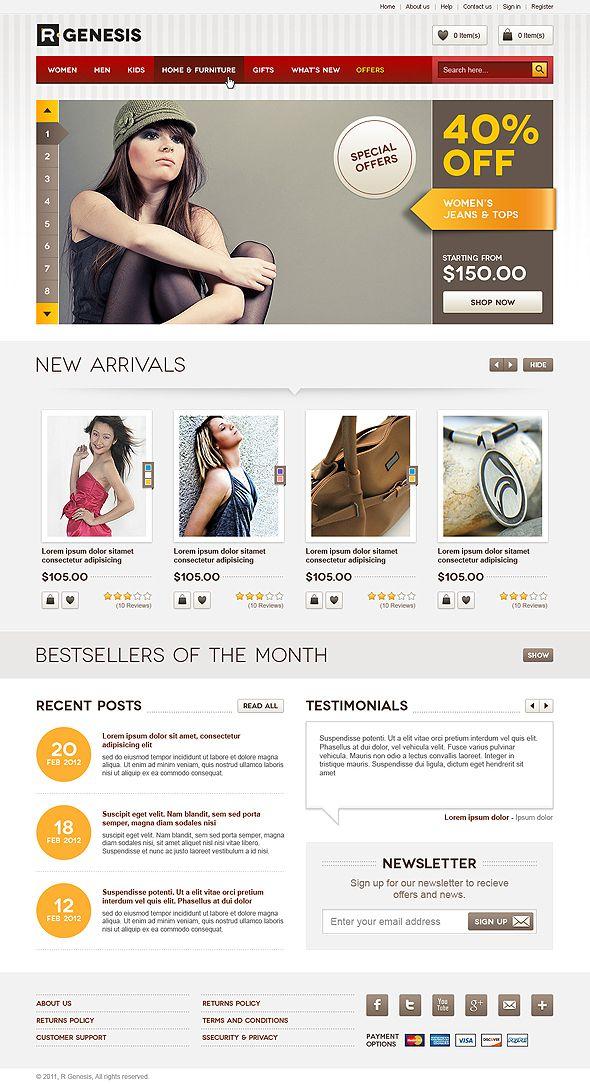 Ecommerce web design layout #inspiration | web design | Pinterest ...