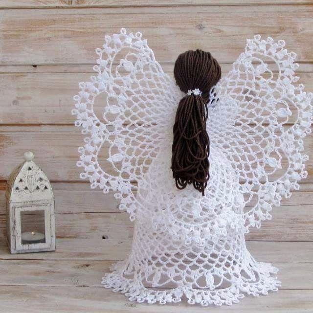 anges-au-crochet-avec-tutoriel-4   Crochet   Pinterest   Ángeles de ...