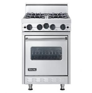 Viking 24 Inch Pro Style Gas Range Small Stove Tiny House Appliances Viking Stove