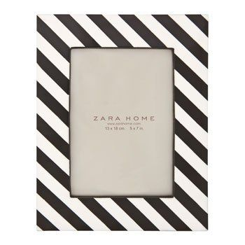 Frames & Mirrors | Zara Black and White striped frame ...
