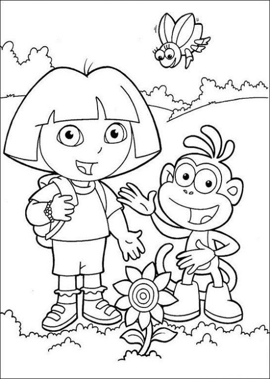 Dibujo De Dora La Exploradora Para Imprimir Peppa Pig Para Colorear Paginas Para Colorear Para Imprimir Libro De Colores