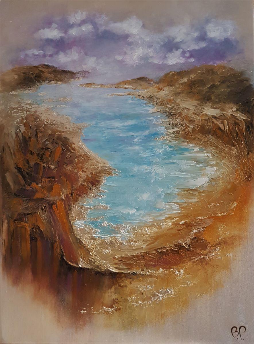 Le tableau inachevé (Peinture), 73x54x1 cm par Bernard ...