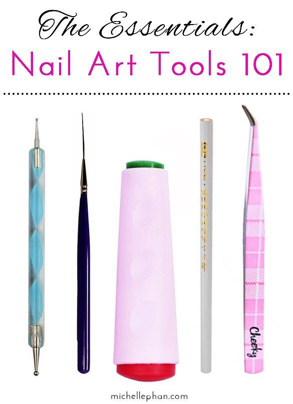 The Essentials Nail Art Tools 101 Michelle Phan Nail Essentials Nail Art Supplies Nail Art Tools
