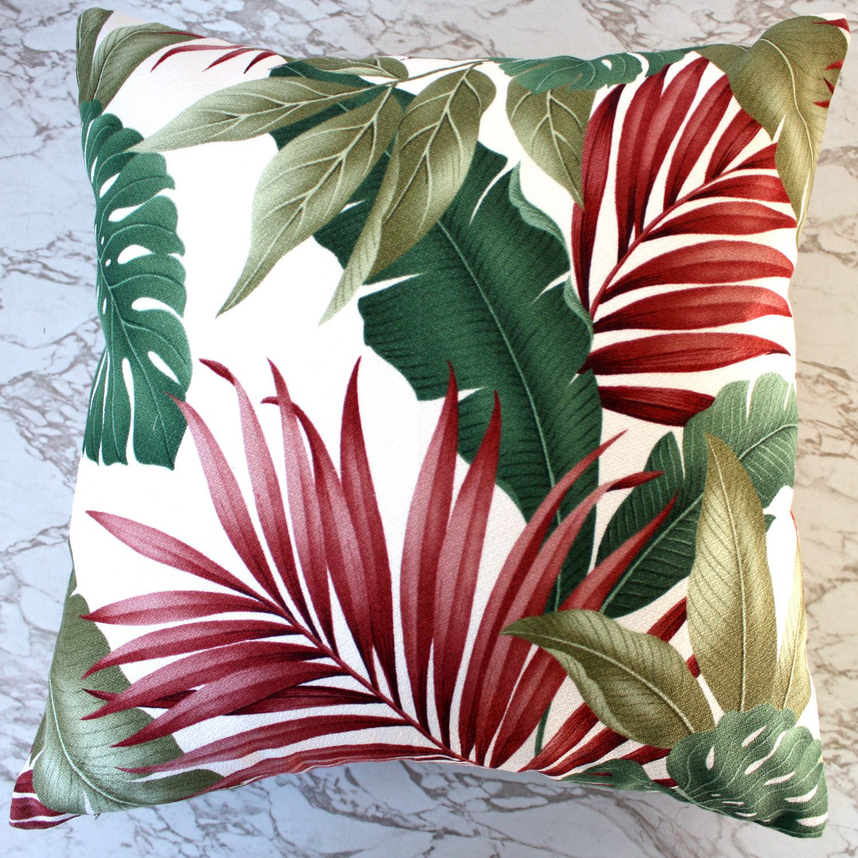 Exotic Leaf Barkcloth Cushion Covers Cushion Camelot