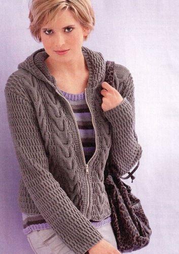 вязание спицами для женщин жакет и топ обсуждение на Liveinternet