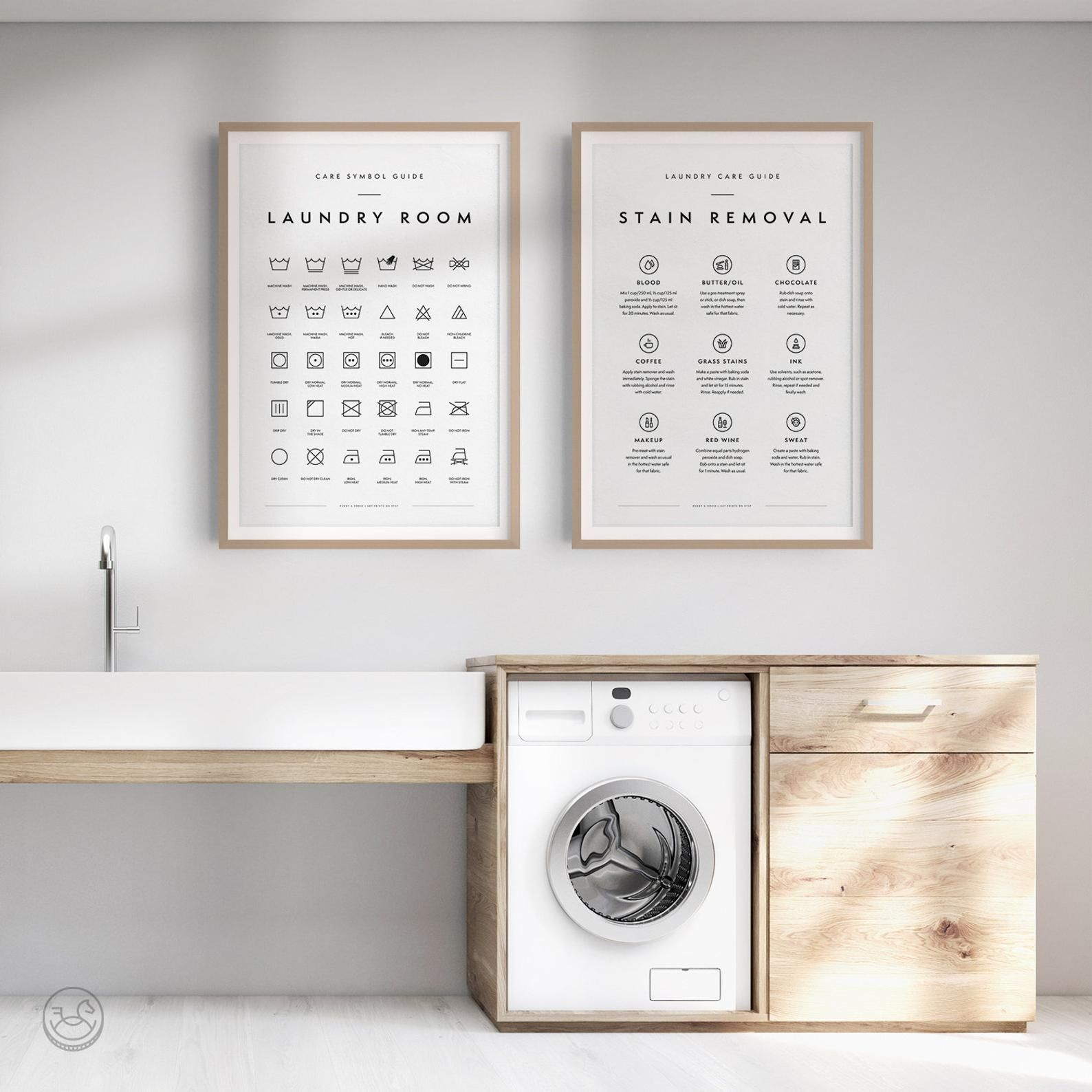 Laundry Room 2 Print Set Printable Art Laundry Wall Decor Etsy Interiordesign Livingroom Homedecorideas Bed Laundry Room Art Laundry Symbols Laundry Room