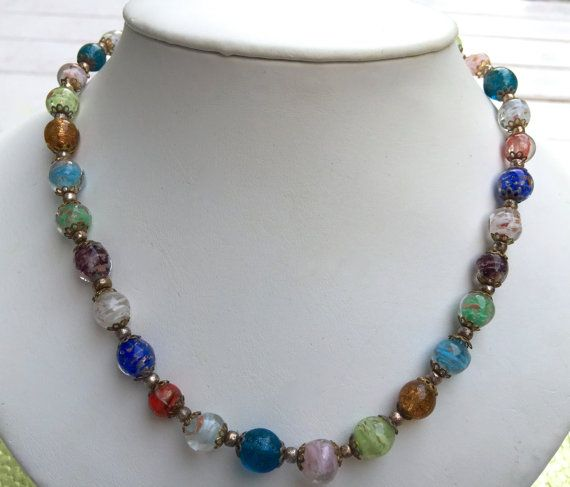 Hey, I found this really awesome Etsy listing at https://www.etsy.com/listing/454634564/stunning-vintage-murano-glass-necklace  $100