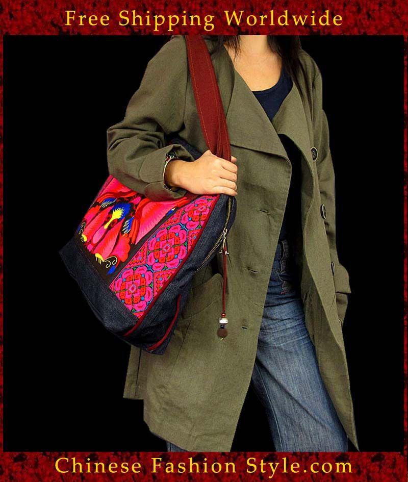 100% Handmade Handbag Purse Shoulder Cross Body Vintage Bag Exquisite Artwork #111 http://www.chinesefashionstyle.com/bags/