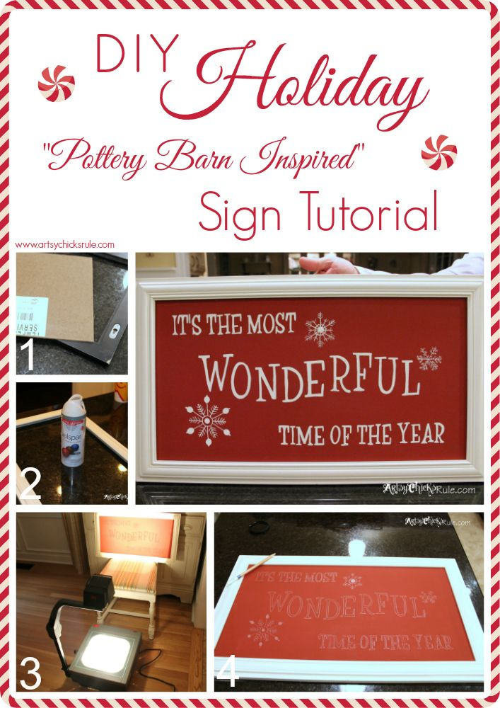 "DIY ""It's The Most Wonderful Time Of The Year"" Sign"
