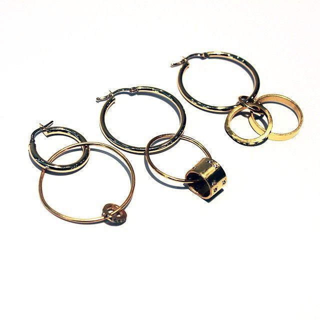 Colette Paris via Instagram - Intertwined hoops earrings by #LaraMelchior