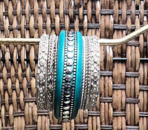Boho Bracelet Indie Jewelry Turquoise Wood and Silver Bracelet Cuff    gingasgalleria - Jewelry on ArtFire