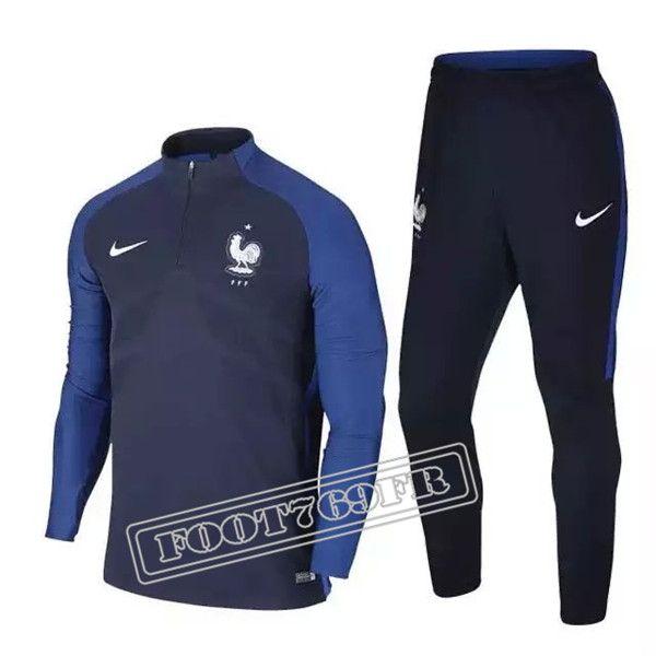 Thai Edition: Nouveau Survetement Foot France Bleu Marine