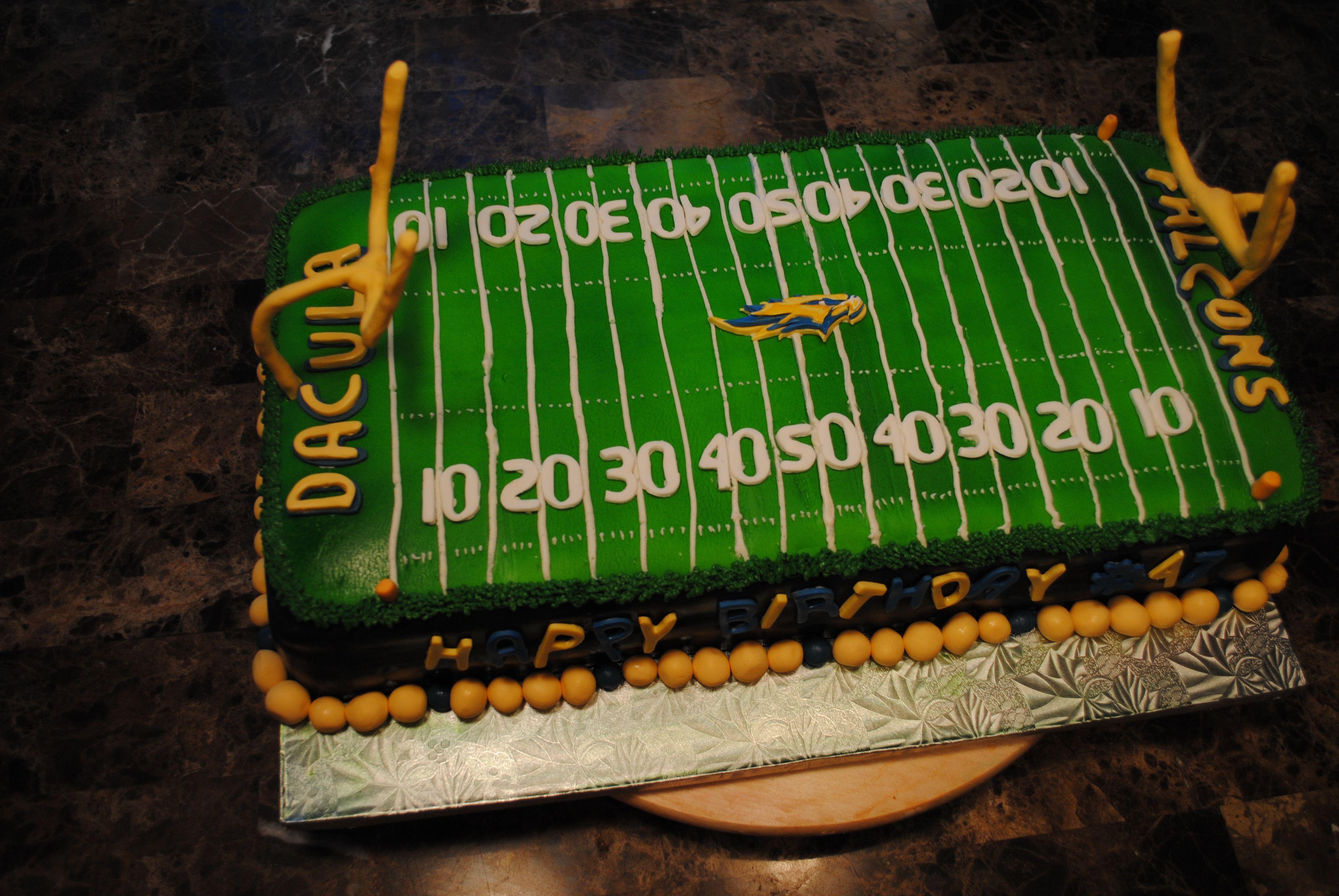 Football cake storing cake