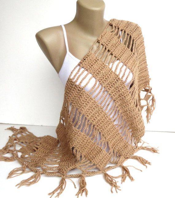 Châle au crochet / / écharpe au Crochet / / écharpe dhiver / / cadeaux pour lui / / Womens Clothing / / Shawl Wrap / / foulard châle / / / senoaccessory