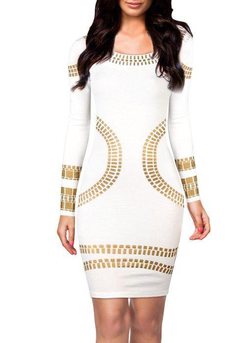 Eygpt Gold Long Sleeve Dresses