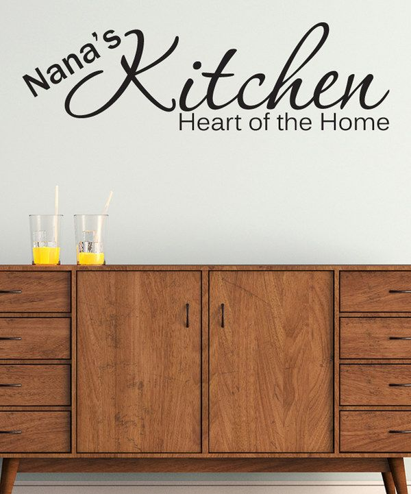 Look at this '___ Kitchen Heart of the Home' Personalized Decal Set on #zulily today!