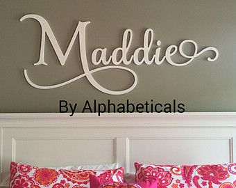 Personalized Baby Nursery Letters Wall Wooden For Decor Signs Large Kids Room Alphabeticals