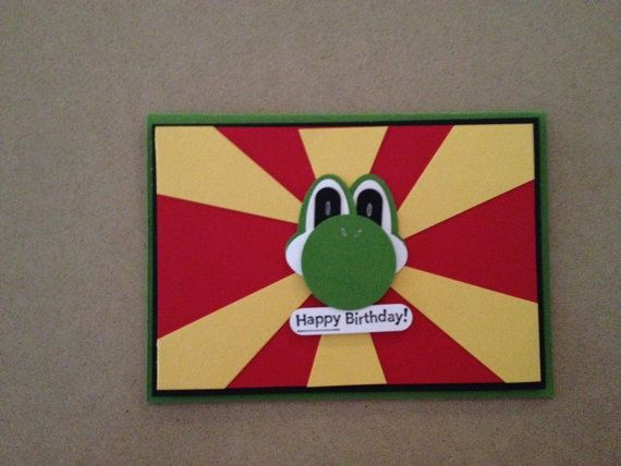 Yoshi birthday card by coraltreedesigns on etsy party ideas yoshi birthday card by coraltreedesigns on etsy bookmarktalkfo Image collections